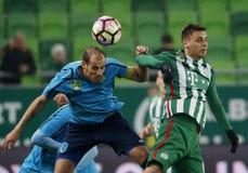Ferencvarosi TC v Paksi FC - węgra OTP bank Liga 1-2 Zdjęcie Royalty Free