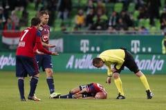 Ferencvarosi TC v Videoton FC - banco húngaro Liga 0-0 de OTP imágenes de archivo libres de regalías