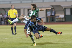 Ferencvarosi TC vs. Sliema UEFA EL football match Royalty Free Stock Photos