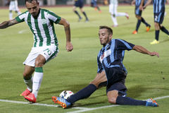 Ferencvarosi TC vs. Sliema UEFA EL football match Royalty Free Stock Photo