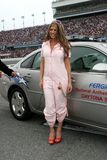Fergie deltar i NASCAR Daytona 500 royaltyfri fotografi