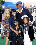 Fergie, Jada Pinkett Smith, Will Smith, Willow Smith och Jaden Smith Royaltyfria Foton