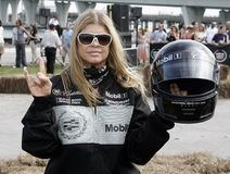 5th Annual Celebrity Cadillac Super Bowl Grand Prix. Fergie participates in the 5th annual celebrity Cadillac Super Bowl Grand Prix at the American Airlines stock photography