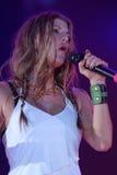 Fergie perform. Fergie live perform in cornetto freemusic festival Royalty Free Stock Photo