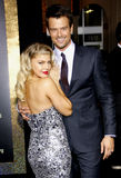 Fergie und Josh Duhamel stockfotos