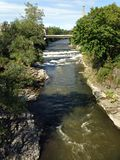 Fergus/Elora Ontario Grand River Arkivfoto