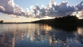 Fergus Falls Minnesota sommarnätter Royaltyfria Bilder