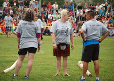 Fergus Highland Games Aug 7 2015 Arkivfoton
