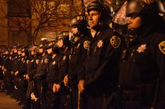 Ferguson Decision Protests In Oakland California Stock Photo