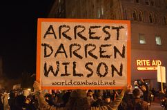 Ferguson Decision Protests In Oakland California Stock Image