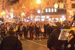 Ferguson Decision Protests In San Francisco Union Square Royalty Free Stock Image