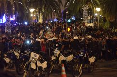 Ferguson Decision Protests In San Francisco Union Square Stock Photography