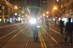 Ferguson Decision Protests In San Francisco Union Square Royalty Free Stock Photos