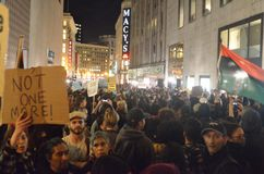 Ferguson Decision Protests In San Francisco Union Square Stock Photo