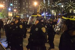 Ferguson Decision Protests In San Francisco Union Square Stock Images