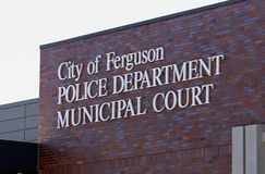 Ferguson-Polizeidienststelle lizenzfreie stockbilder
