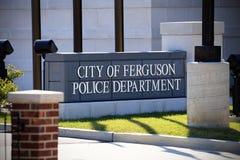 Ferguson-Polizeidienststelle Stockbilder