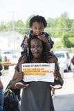 Ferguson protester Fotografering för Bildbyråer