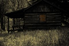 Creepy Cabin in the Woods Stock Image