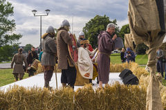Feria al lado del castillo de Wawel Fotos de archivo libres de regalías