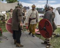 Feria al lado del castillo de Wawel Fotografía de archivo