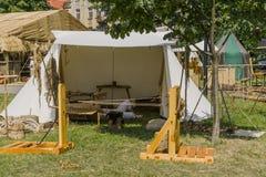 Feria al lado del castillo de Wawel Foto de archivo