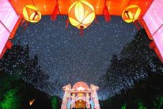 Feria china del templo del Año Nuevo 2014 y festival de linterna Fotos de archivo libres de regalías