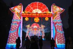Feria china del templo del Año Nuevo 2014 y festival de linterna Foto de archivo libre de regalías