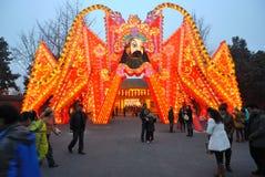 Feria china del templo del Año Nuevo 2014 y festival de linterna Fotografía de archivo