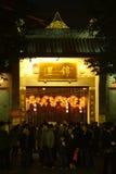 Feria china del templo del Año Nuevo 2014 y festival de linterna Imágenes de archivo libres de regalías