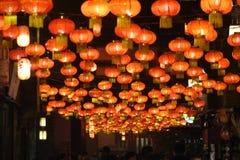 Feria china del templo del Año Nuevo 2014 y festival de linterna Foto de archivo