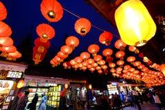 Feria china del templo del Año Nuevo 2016 y festival de linterna en Chengdu Fotos de archivo libres de regalías
