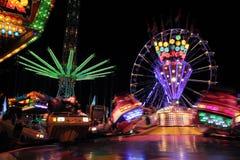 Feria con paseos de giro Imagen de archivo