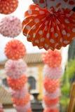 Feria de abril nas ruas de Sevilha Fotos de Stock Royalty Free