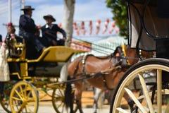 Feria De Abril w Seville w Andalusia Hiszpania zdjęcia stock