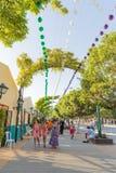 Feria de agosto de Málaga Imágenes de archivo libres de regalías