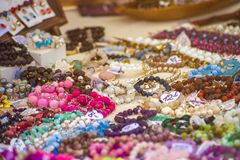 Feria de diversas decoraciones fotografía de archivo libre de regalías