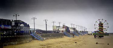 Feria de diversión de la playa de Cleethorpes Fotografía de archivo libre de regalías