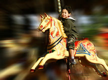 Feria de diversión del carrusel Imagen de archivo libre de regalías