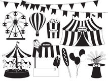 Feria de diversión y colección del circo Fotos de archivo