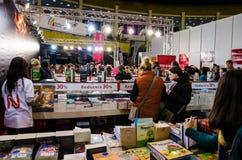 Feria de libro de Gaudeamus, Bucarest, Rumania 2014 Imagen de archivo libre de regalías