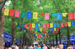 Feria de libro ditan de Pekín Imagenes de archivo