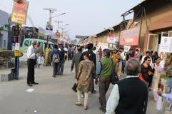 Feria de libro en Kolkata. Fotos de archivo