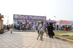 Feria de libro en Kolkata. Foto de archivo