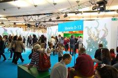 Feria de libro internacional (Salone del Libro) Turín Imagen de archivo