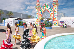 Feria Marbelle Испания Сан Bernabé Стоковое Изображение
