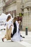 Feria medieval en Galicia España Imágenes de archivo libres de regalías
