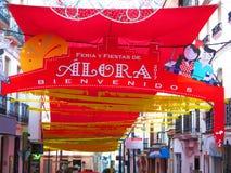 Feria Portal per il festival annuale del villaggio Fotografia Stock Libera da Diritti