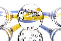 Feriado da abstração da luz do espelho de vidro fotografia de stock