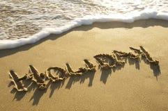 Feriado da praia Imagem de Stock Royalty Free